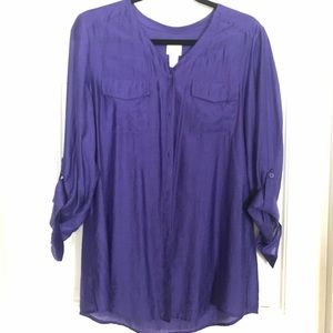 Chico's Purple Blouse Shirt